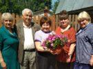 Поздравление ветерана педагогического труда В.М. Жильцовой с юбилеем
