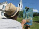 В филиале ОГБПОУ  «РПК»  в г. Касимове  идет  учебная практика – пленэр
